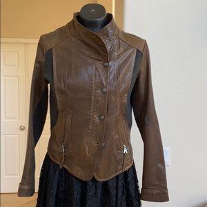 Used via Spiga leather jacket